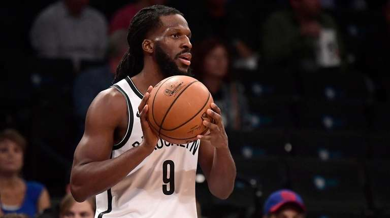 DeMarre Carroll of the Nets looks to pass