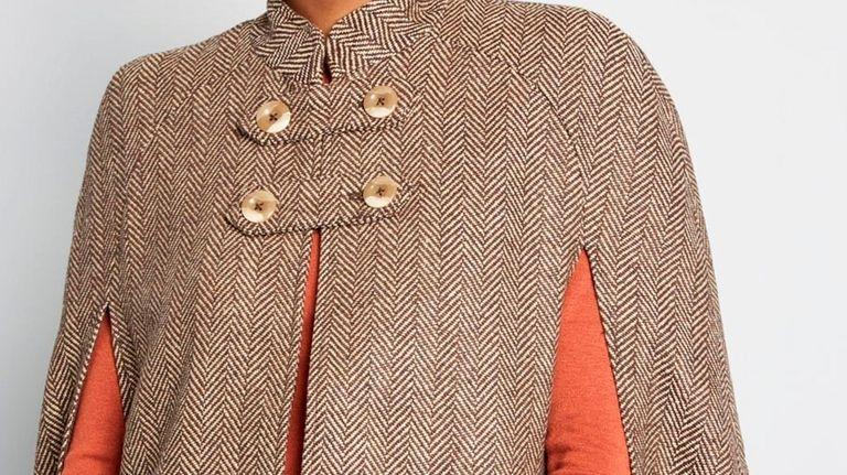 Modcloth's classic Pardon My French Quarter cape, with