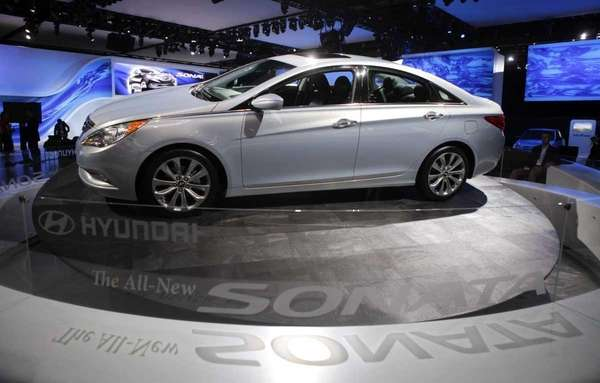 The 2011 Sonata midsize sedan, which has been