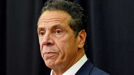 Gov. Andrew Cuomo, shown in Brentwood on Oct.