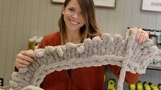 Devyn Ronca of Setauket makes a chunky knit