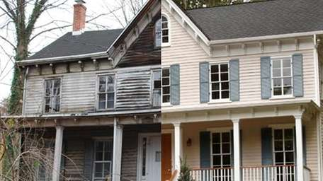 19th Century Cold Spring Harbor home renovation.