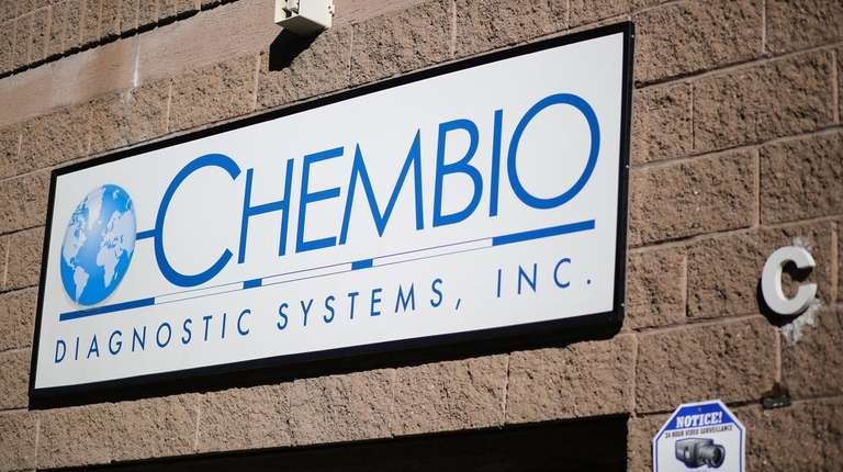 Chembio Diagnostic Systems in Medford, seen Oct. 31,