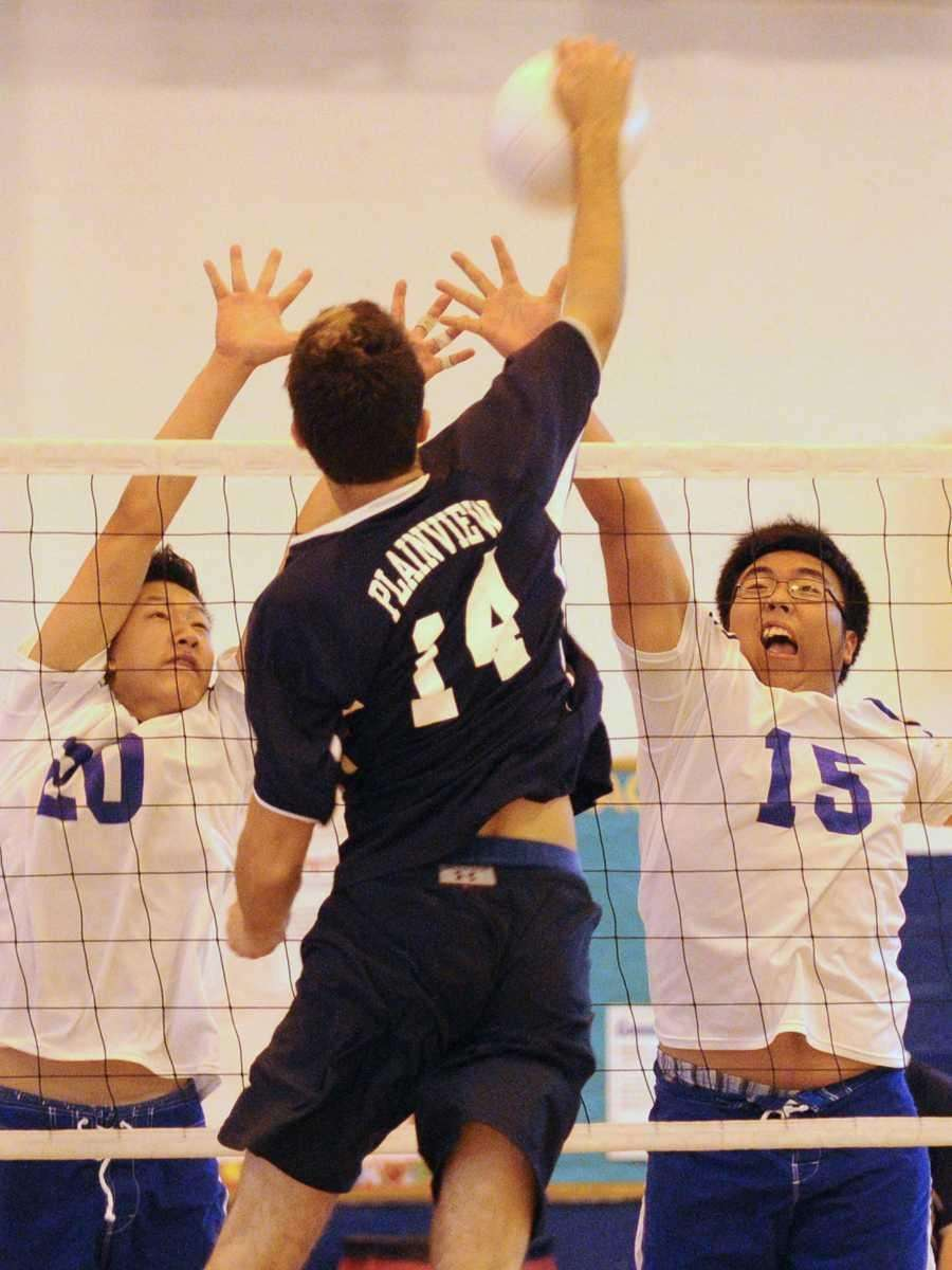 Port Washington High School sophomore #20 Jongho Byun,