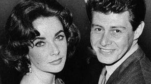 Elizabeth Taylor is seen with singer Eddie Fisher
