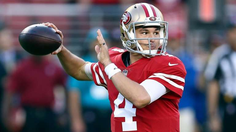 The 49ers' Nick Mullens had a record-breaking debut