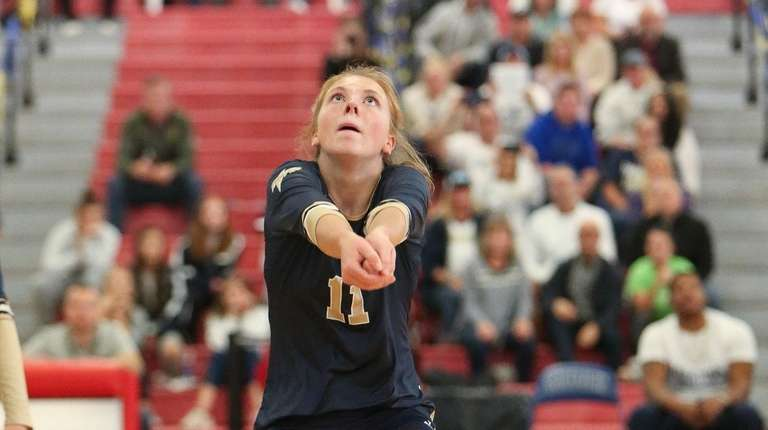 Bayport Blue Point's Isabella Imbo (11) plays the