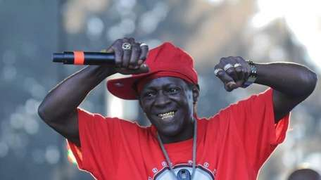 Flavor Flav of Public Enemy performs during Live