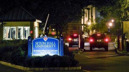 All vehicles trying to enter Seton Hall University