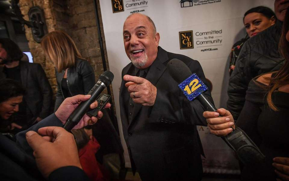 Billy Joel walks the red carpet during the