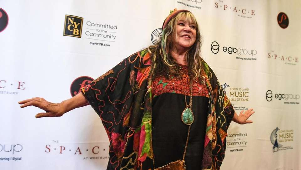 Folk Singer Melanie walks the red carpet during