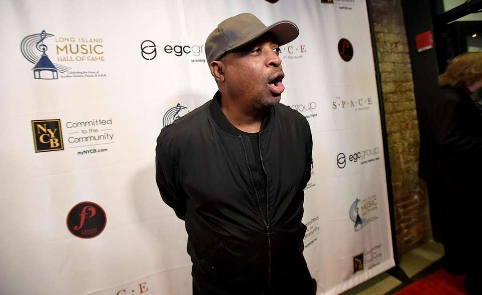 Hip Hop Artist Chuck D walks the red