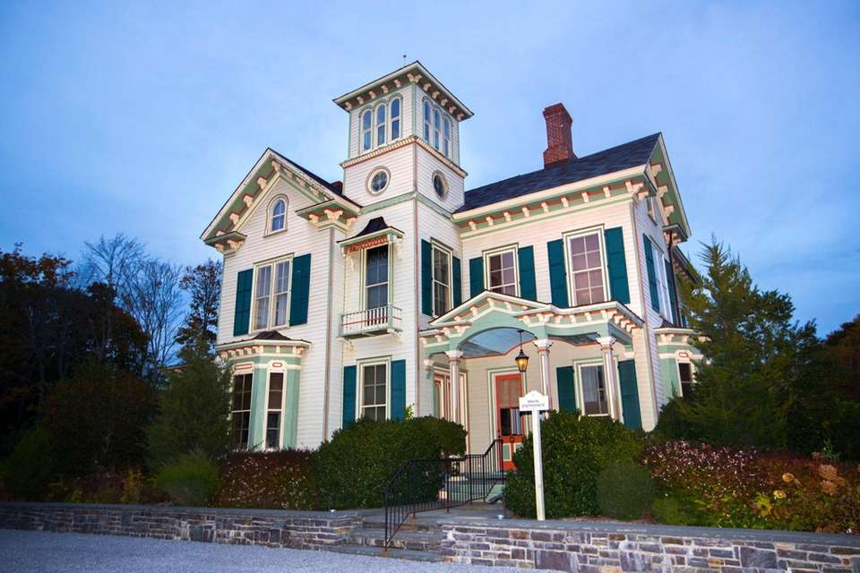This grand Italianate mansion, set on 22 acres