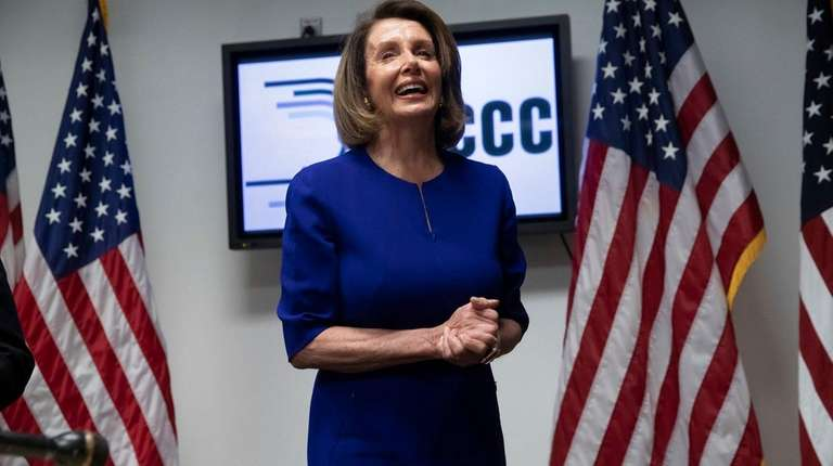 House Democratic Leader Nancy Pelosi of California smiles