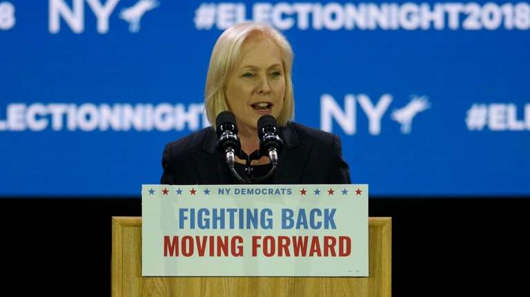 Sen. Kirsten Gillibrand gives her victory speech on