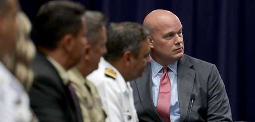 Matthew Whitaker, now acting attorney general, participates in