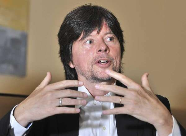 "Filmmaker Ken Burns discusses his baseball documentary, ""The"