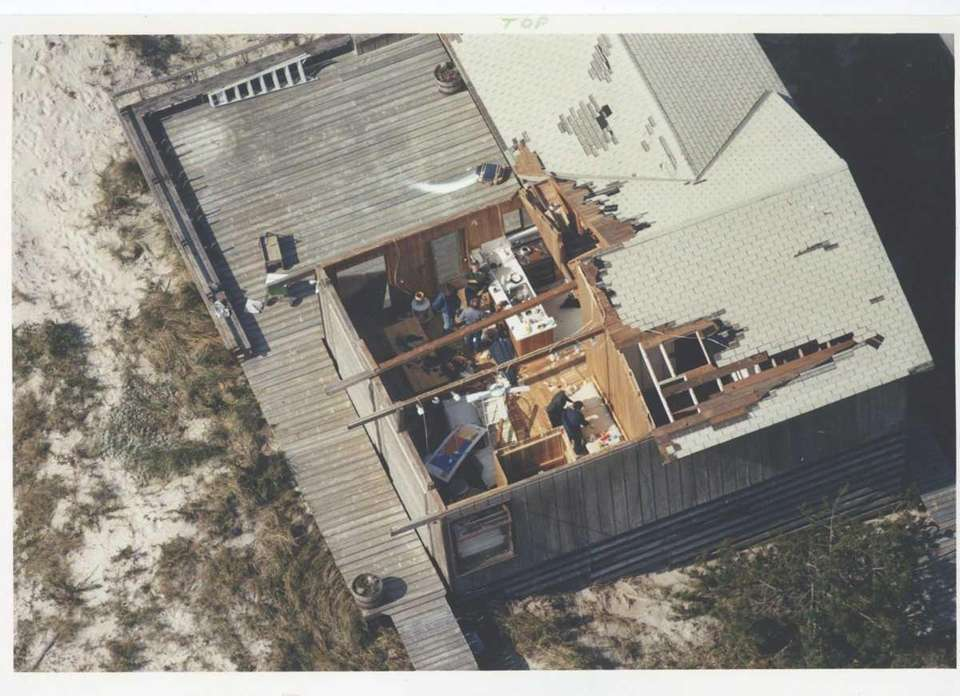 Part of a roof yielded to Hurricane Gloria