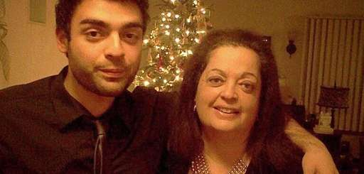 Raj Tawney of Port Washington with his mother,