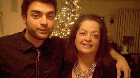 Raj Tawney of Port Washington with his mother,