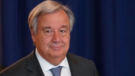 United Nations Secretary-General Antonio Guterres on Sept. 27.