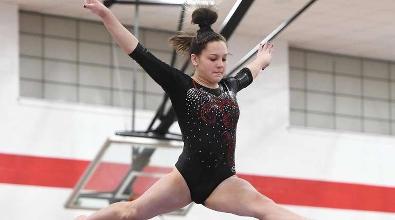 East Islip's Cassie Bergin competes on the balance
