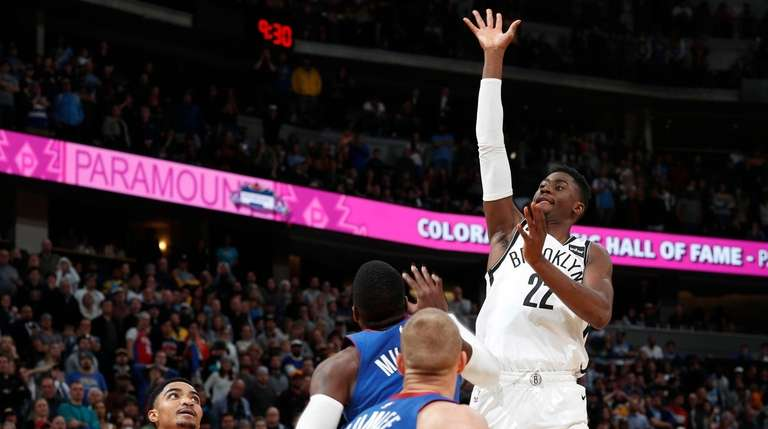 Nets guard Caris LeVert hits the winning floater