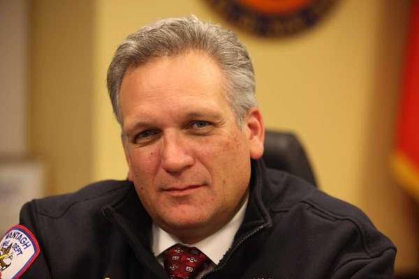 Nassau County Executive Edward Mangano poses in his
