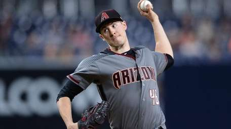 Arizona Diamondbacks starting pitcher Patrick Corbin throws a