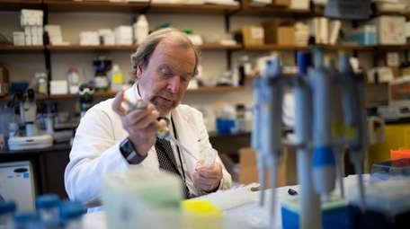 Alzheimer's researcher Dr. Peter Davies works at the
