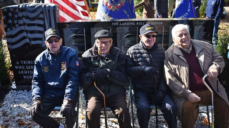 World War II veterans, from left, Robert John