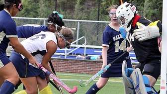Massapequa's Jamie Ahrens manages to control ball in