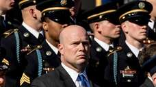 Acting U.S. Attorney General Matt Whitaker attends a