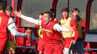 Chaminade's Benjamin Szemerenyi celebrates the only score of