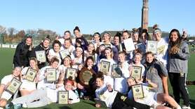 St. Anthony's girls soccer team with their NYSCHSAA