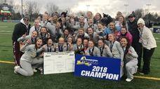 Garden City celebrates its 1-0 victory over Lakeland