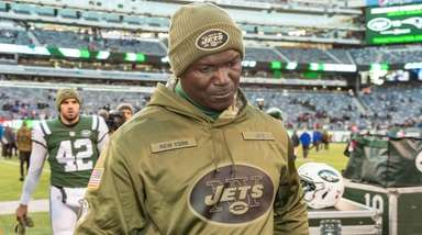 Jets head coach Todd Bowles walks off after