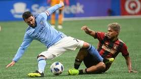 New York City forward David Villa and Atlanta