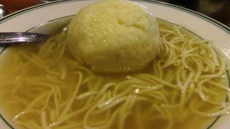 Chicken soup with matzo balls at Ben's Deli,