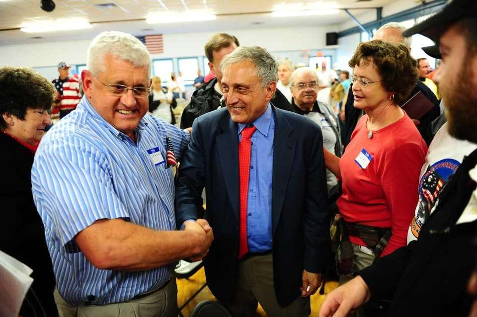 Republican candidate Carl Paladino during an appearance at
