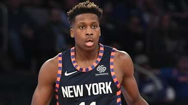 Knicks guard Frank Ntilikina against the Orlando Magic