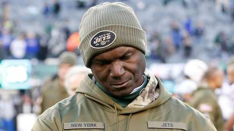 Jets coach Todd Bowles walks off the field
