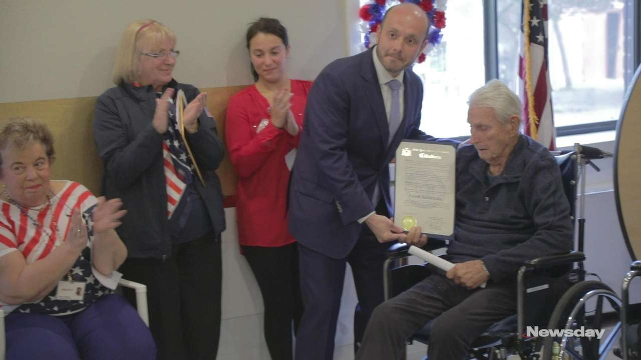 Among those honored on Veterans Day was 100-year-old U.S.