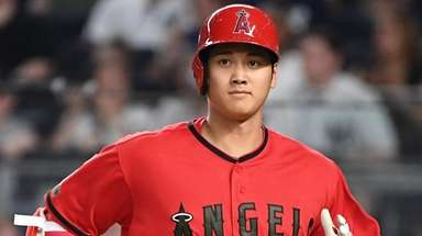 Los Angeles Angels designated hitter Shohei Ohtani at
