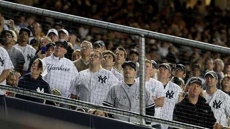 Yankee fans in an undated file photo.