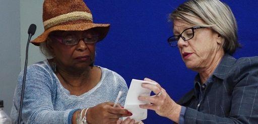 Broward Supervisor of Elections Brenda Snipes, left, and