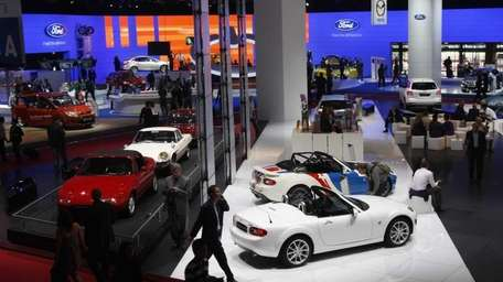 General view of the Paris Auto Show during