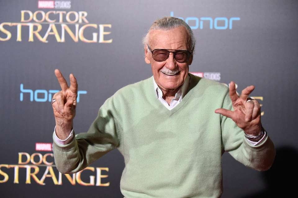 Stan Lee attends the premiere of Disney and