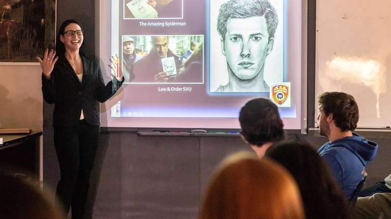 Forensic artist Danielle Gruttaudario visited Shoreham-Wading River High