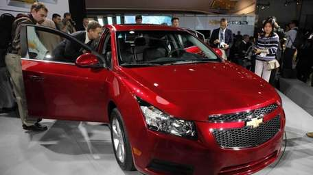 The 2011 Chevrolet Cruze at the Los Angeles